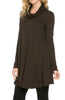 Long Sleeve Cowl Neck A-Line Tunic Dress - BodiLove | 30% Off First Order - 7