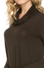 Long Sleeve Cowl Neck A-Line Tunic Dress - BodiLove | 30% Off First Order - 8
