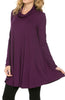 Long Sleeve Cowl Neck A-Line Tunic Dress - BodiLove | 30% Off First Order - 9