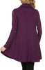 Long Sleeve Cowl Neck A-Line Tunic Dress - BodiLove | 30% Off First Order - 10