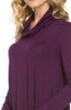 Long Sleeve Cowl Neck A-Line Tunic Dress - BodiLove | 30% Off First Order - 12
