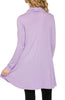 Long Sleeve Cowl Neck A-Line Tunic Dress - BodiLove | 30% Off First Order - 14