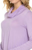 Long Sleeve Cowl Neck A-Line Tunic Dress - BodiLove | 30% Off First Order - 16