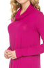 Long Sleeve Cowl Neck A-Line Tunic Dress - BodiLove | 30% Off First Order - 19