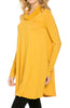 Long Sleeve Cowl Neck A-Line Tunic Dress - BodiLove | 30% Off First Order - 23