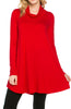 Long Sleeve Cowl Neck A-Line Tunic Dress - BodiLove | 30% Off First Order - 25