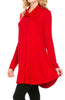 Long Sleeve Cowl Neck A-Line Tunic Dress - BodiLove | 30% Off First Order - 27
