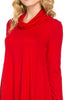 Long Sleeve Cowl Neck A-Line Tunic Dress - BodiLove | 30% Off First Order - 28