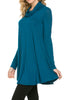 Long Sleeve Cowl Neck A-Line Tunic Dress - BodiLove | 30% Off First Order - 29