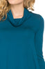Long Sleeve Cowl Neck A-Line Tunic Dress - BodiLove | 30% Off First Order - 31