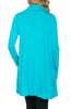Long Sleeve Cowl Neck A-Line Tunic Dress - BodiLove | 30% Off First Order - 33