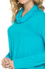 Long Sleeve Cowl Neck A-Line Tunic Dress - BodiLove | 30% Off First Order - 35