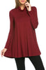 Long Sleeve Cowl Neck A-Line Tunic Dress - BodiLove | 30% Off First Order - 36