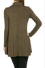 Long Sleeve Cowl Neck A-Line Tunic Dress - BodiLove | 30% Off First Order - 56