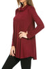 Long Sleeve Cowl Neck A-Line Tunic Dress - BodiLove | 30% Off First Order - 38