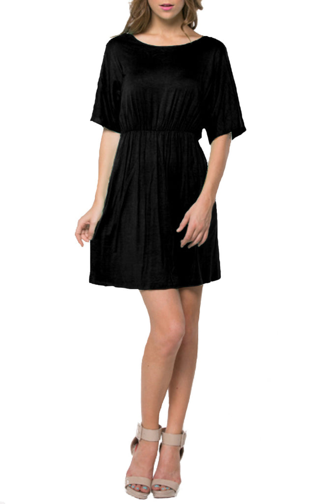 Short Batwing Sleeve Knit Dress - BodiLove | 30% Off First Order  - 1