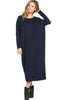 Long-Sleeve, Dolman Midi Dress | 30% Off First Order | Navy