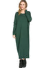 Long-Sleeve, Dolman Midi Dress | 30% Off First Order | Dark Green