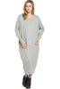 Long-Sleeve, Dolman Midi Dress | 30% Off First Order | Heather Gray