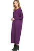 Long-Sleeve, Dolman Midi Dress | 30% Off First Order | Purple