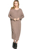 Long-Sleeve, Dolman Midi Dress | 30% Off First Order | Taupe