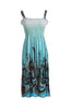 Exotic Floral Prints Easy-Fit Midi/Mini Summer Beach Dress with Shoulder Straps - BodiLove | 30% Off First Order  - 7
