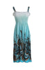 Exotic Floral Prints Easy-Fit Midi/Mini Summer Beach Dress with Shoulder Straps - BodiLove | 30% Off First Order  - 6