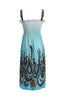 Exotic Floral Prints Easy-Fit Midi/Mini Summer Beach Dress with Shoulder Straps - BodiLove | 30% Off First Order  - 8