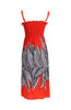 Palm Tree Design Easy-Fit Midi/Mini Summer Beach Dress with Shoulder Straps - BodiLove | 30% Off First Order  - 2