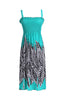 Palm Tree Design Easy-Fit Midi/Mini Summer Beach Dress with Shoulder Straps - BodiLove | 30% Off First Order  - 9