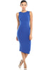 Sleeveless Knit Bodycon Midi Cocktail Dress - BodiLove | 30% Off First Order - 7 | Royal Blue