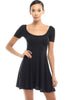 Short Sleeve Scoop Neck Fit & Flare Skater Dress - BodiLove | 30% Off First Order - 1