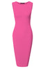 Sleeveless Knit Bodycon Midi Cocktail Dress - BodiLove | 30% Off First Order - 3 | Fuchsia