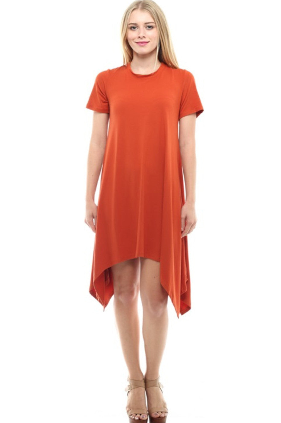 267a23a9d707f Short Sleeve A-Line Trapeze Tunic Dress – BodiLove Fashion Store