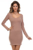 Long Sleeve Scoop Neck Bodycon Dress - BodiLove | 30% Off First Order  - 11