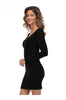 Long Sleeve Scoop Neck Bodycon Dress - BodiLove | 30% Off First Order  - 2
