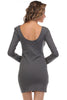 Long Sleeve Scoop Neck Bodycon Dress - BodiLove | 30% Off First Order  - 10