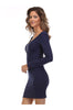 Long Sleeve Scoop Neck Bodycon Dress - BodiLove | 30% Off First Order  - 5