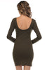 Long Sleeve Scoop Neck Bodycon Dress - BodiLove | 30% Off First Order  - 8
