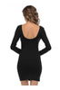 Long Sleeve Scoop Neck Bodycon Dress - BodiLove | 30% Off First Order  - 3