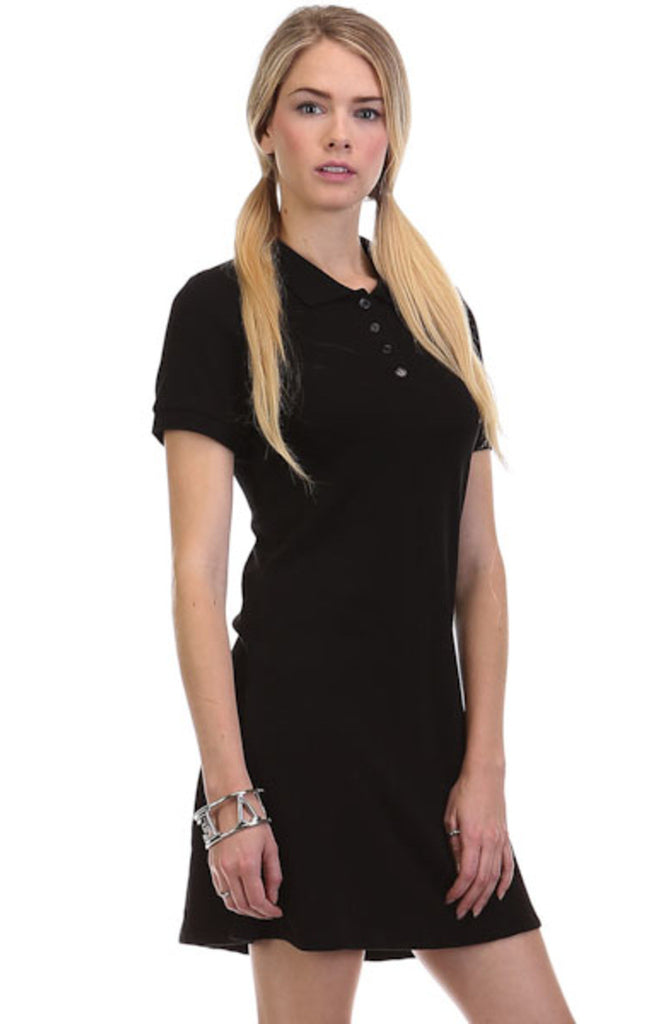Trendy Short Sleeve Collared Polo Dress - BodiLove | 30% Off First Order - 1