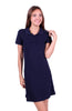 Trendy Short Sleeve Collared Polo Dress - BodiLove | 30% Off First Order - 6