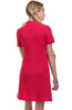 Trendy Short Sleeve Collared Polo Dress - BodiLove | 30% Off First Order - 4