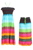 Multi-Colored Rainbow Design 3-In-1 Summer Beach Tube Dress/Cover-up - BodiLove | 30% Off First Order  - 1