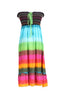 Multi-Colored Rainbow Design 3-In-1 Summer Beach Tube Dress/Cover-up - BodiLove | 30% Off First Order  - 2