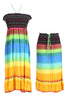Multi-Colored Rainbow Design 3-In-1 Summer Beach Tube Dress/Cover-up - BodiLove | 30% Off First Order  - 11