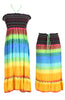 Multi-Colored Rainbow Design 3-In-1 Summer Beach Tube Dress/Cover-up - BodiLove | 30% Off First Order  - 12