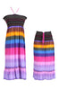 Multi-Colored Rainbow Design 3-In-1 Summer Beach Tube Dress/Cover-up - BodiLove | 30% Off First Order  - 21