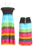 Multi-Colored Rainbow Design 3-In-1 Summer Beach Tube Dress/Cover-up - BodiLove | 30% Off First Order  - 16