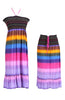 Multi-Colored Rainbow Design 3-In-1 Summer Beach Tube Dress/Cover-up - BodiLove | 30% Off First Order  - 24